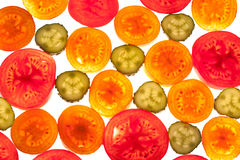 Mix of colorful citrus fruit on white Stock Photos