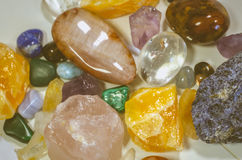 Mix of colorful gem stones Royalty Free Stock Images