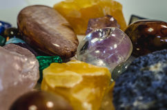 Mix of colorful gem stones Stock Photography
