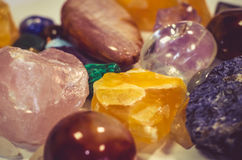 Mix of colorful gem stones. Mixture of colorful gem stones Royalty Free Stock Photos