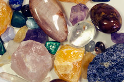 Mix of colorful gem stones Stock Images