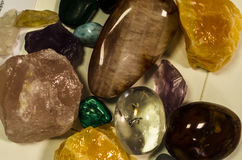 Mix of colorful gem stones Royalty Free Stock Photos