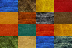 Mix colorful leather texture, abstract background Royalty Free Stock Photos