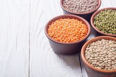 Mix of colorful lentil Royalty Free Stock Photography
