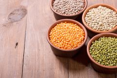Mix of colorful lentil Stock Photo
