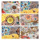 Mix Colorful Mosaic Background Stock Image