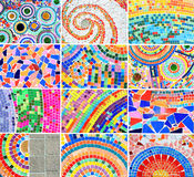 Mix Colorful mosaic background Stock Images