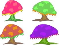Mix of Colorful Mushrooms Royalty Free Stock Images