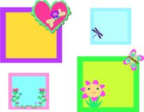 Mix of Colorful Nature Frames Royalty Free Stock Photography