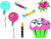 Mix of Colorful Party Items Royalty Free Stock Image