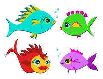 Mix of Colorful Sweet Fish Stock Photo