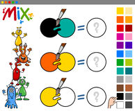 Mix colors game for children Stock Image