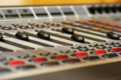 Mix console. Digital mix console from AXIA Royalty Free Stock Photos