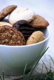 Mix of cookies stock photography