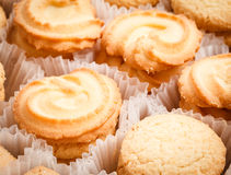 Mix cookies in various shape, close-up Royalty Free Stock Photography
