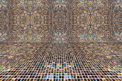 Mix coolr pixel mosaic background Royalty Free Stock Photo