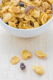 Mix corn flakes cereal snack menu Royalty Free Stock Images