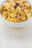 Mix corn flakes cereal snack menu Royalty Free Stock Image