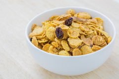 Mix corn flakes cereal snack menu Stock Photo