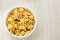 Mix corn flakes cereal snack menu Stock Images