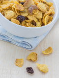 Mix corn flakes cereal snack menu Stock Image