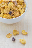 Mix corn flakes cereal snack menu Stock Photos