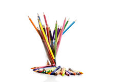 Mix crayon Royalty Free Stock Photography