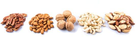 Mix Culinary Nuts IV Stock Photos