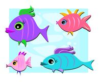 Mix of Cute Fish Stock Photo