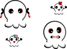 Mix of Cute Ghosts Stock Photography