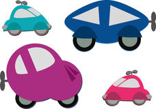 Mix of Cute Wind Up Cars Stock Photos