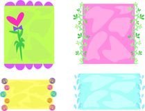Mix of Decorative Frames Royalty Free Stock Photography