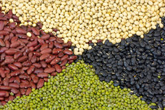 Mix from different beans Royalty Free Stock Images