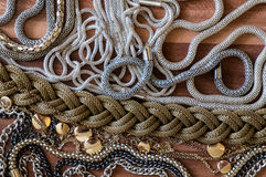 Mix of different chains Stock Image