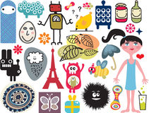 Mix of different images and icons. vol.14. Mix of different vector images and icons Stock Photo