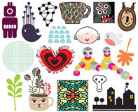 Mix of different images and icons. vol.68 Stock Photography