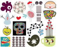 Mix of different  images and icons. vol.67 Royalty Free Stock Photo