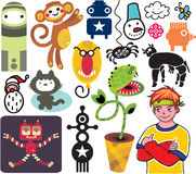 Mix of different images and icons. vol.19 Stock Photo