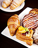 Mix of different pastry Stock Photos