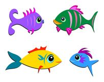 Mix of Different Shaped Fish Stock Photo