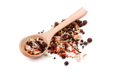 Mix of different types of spices Royalty Free Stock Photography