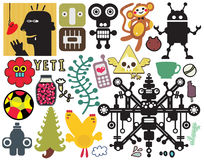 Mix of different vector images. Stock Image