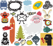 Mix of different vector images and icons. Vol.34 Royalty Free Stock Photos