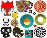 Mix of different vector images.vol.72 Royalty Free Stock Images