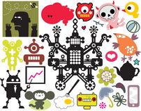 Mix of different vector images. vol.41 Royalty Free Stock Image