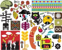 Mix of different vector images. vol.50 Stock Photos