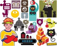 Mix of different vector images. vol.52 Royalty Free Stock Images