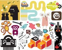 Mix of different vector images. vol.53 Royalty Free Stock Photography
