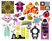Mix of different vector images. vol.54 Royalty Free Stock Image