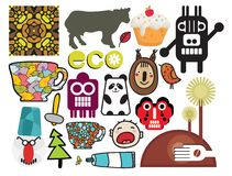 Mix of different vector images. vol.56 Stock Images